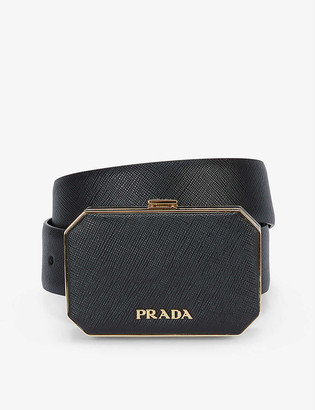 Prada Octagon logo-adorned leather belt bag