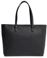 Salvatore Ferragamo Large Grained Leather Tote - None