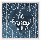 Be Happy Circle (Framed Giclee)