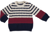 Mayoral Mix Striped Cable Knit Sweater, Size 6-36 Months