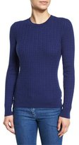 Michael Kors Cable-Knit Crewneck Sweater, Sapphire