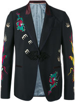 Gucci embroidered blazer - men - Cupro/Mohair/Wool - 48