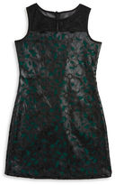Us Angels Girls 7-16 Faux Leather Lace Dress