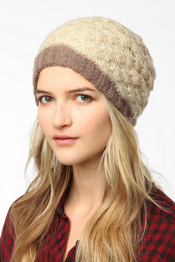 Urban Outfitters Layered Crochet Beanie