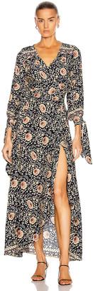 Natalie Martin Danika Long Sleeve Dress in Vintage Flowers Midnight | FWRD
