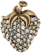 Gucci Gold Crystal Strawberry Ring