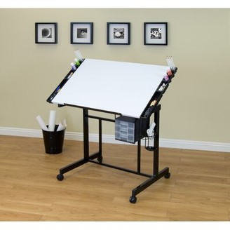 Studio Designs Deluxe Drafting Table Color: White / Black