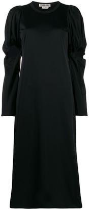 Comme des Garcons Ruched Details Midi Dress