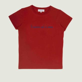 Maison Labiche Poppy Red Lavenir est a Nous Printed T-Shirt - xl