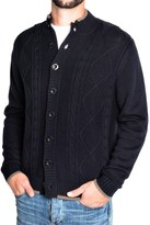 Toscano Diamond Cable Cardigan Sweater - Merino Wool (For Men)