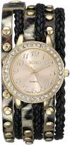 XOXO Women's XO5601 Black and Braided Wrap Watch