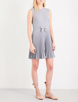 RED Valentino Fit-and-flare pleated woven dress