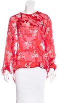 Preen Sheer Floral Jacquard Blouse