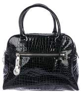 MICHAEL Michael Kors Embossed Patent Leather Satchel