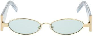 ROWEN ROSE Logo Round Sunglasses