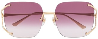 Gucci Rimless Square-Frame Sunglasses