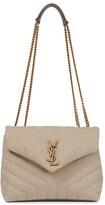 Thumbnail for your product : Saint Laurent Loulou Small linen shoulder bag
