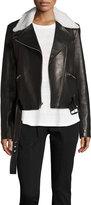 A.L.C. Tyrel Leather Moto Jacket w/ Shearling