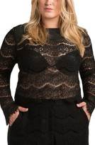 Plus Size Women's Standards & Practices Sydney Lace Skimmer Top