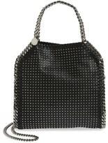 Stella McCartney 'Mini Falabella' Studded Faux Leather Tote - Black