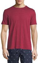 Derek Rose Basel 3 Crewneck Lounge T-Shirt, Red