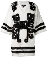 Kokon To Zai 'Hockey' faux fur t-shirt