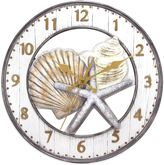 Bed Bath & Beyond Shell Wall Clock in Grey