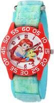 Disney Girl's 'Ariel' Quartz Plastic and Nylon Automatic Watch, Color: (Model: W002906)