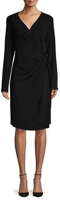 Lafayette 148 New York Tie-Waist Knee-length Dress