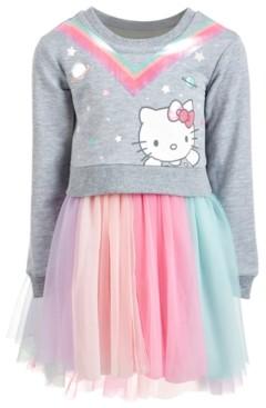 Hello Kitty Little Girls Sweatshirt Tutu Dress