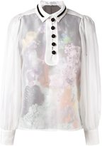 Carven sheer buttoned blouse - women - Polyester/Cotton/Silk - 40