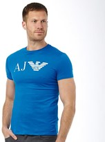 Armani Jeans Mens Logo T-Shirt Cornflower Blue