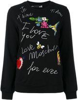 Love Moschino multi-patches sweatshirt