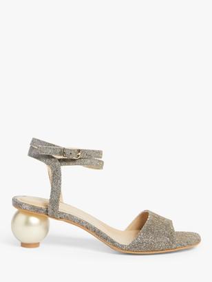 John Lewis & Partners Breya Feature Heel Slingback Court Shoes, Gold