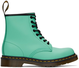 Dr. Martens Green 1460 Smooth Lace-Up Boots