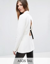 ASOS Tall ASOS TALL Open Back Blazer with Tape