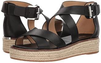 MICHAEL Michael Kors Darby Sandal (Black Vachetta 1) Women's Sandals