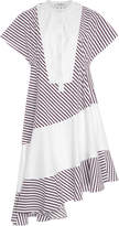Carven Striped Cotton-Poplin Dress
