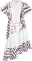 Carven Striped Cotton-Poplin Dress