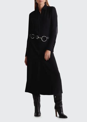 Ralph Lauren Aliyah Midi Silk Day Dress