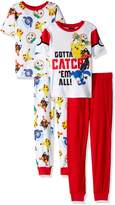 AME Sleepwear Pokemon Pikachu and Friends Gotta Catch 'Em All Pajamas for boys