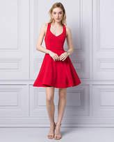 Le Château Scuba Knit V-Neck Party Dress