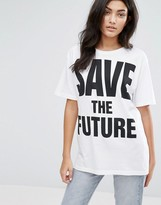 YMC Save The Future Logo T-Shirt
