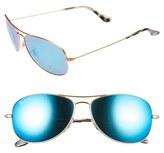Ray-Ban Women's 59Mm Polarized Sunglasses - Blue/ Green Mirror