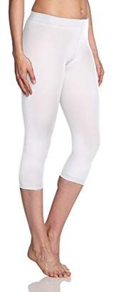 Kunert Women's 356000 Velvet 80 Leggings, 75 DEN, White 0010, (Size: 42/43)