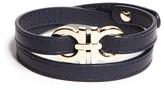 Salvatore Ferragamo Double Wrap Double Gancini Bracelet