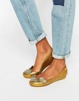 Melissa Utragirl Gold Glitter Cherub Flat Shoes