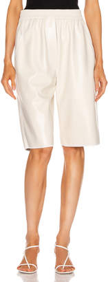 Nanushka Yolie Shorts in Off-White | FWRD
