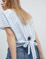 JDY Stripe Top With Tie Back