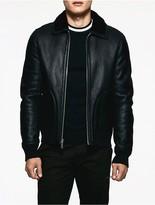 Calvin Klein Platinum Shearling Jacket
